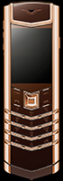 копия vertu signature s design red gold brown leather